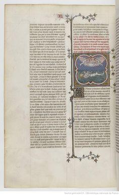 Grandes Chroniques de France Fol 122v, 1375-1380, Henri du Trévou & Raoulet d'Orléans
