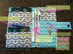Travel Organizer sewing tutorial - enough space to keep big families organized!