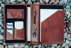 Personalized leather portfolio, Document holder, Mens business folder, Leather organizer, Padfolio - Call of the Wild Leather Laptop Bag, Leather Bag, Leather Briefcase, Leather Journal, Office Boy, Business Folder, Business Cards, Leather Portfolio, Document Holder