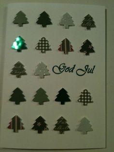 Julkort med granar