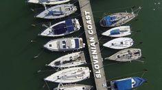 Slovenian coast from air. On the video you can see Marina Portorož, Piran and Sečovlje salt pans. Costa, Sci Fi, Videos, Science Fiction
