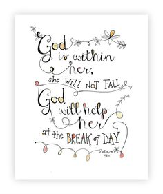 God is Within Her Psalm 465 Printable Bible Verse by SweetestPie