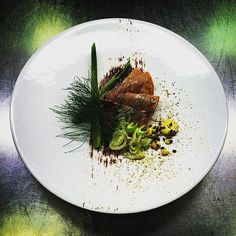 Veal Shoulder Bitter Chocolate Braised Fennel Turnip Mustard Crüe De Cacao Fennel Pollen. #TheArtOfPlating #instafood #foodiechats #london #foodie #food #fresh #chefstalk by grabecki1