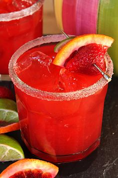 A Very Berry Blood Orange Margarita | Creative-Culinary.com - It's National Margarita Day!