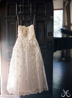 Maybe for rehearsal dinner! Tea length vintage wedding dress with floral embellishment. Pretty Wedding Dresses, Wedding Dresses Photos, Beautiful Dresses, Gorgeous Dress, Bridal Gowns, Wedding Gowns, Wedding Shoot, Wedding Lace, Spring Wedding