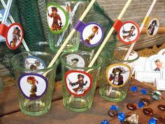 A Treasure Hunt Pirates and Mermaids - decoration for glasses and straws