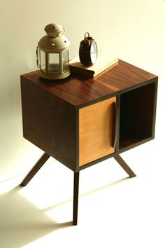 Mid Century Modern Bedside Table/ Nightstand/ American Walnut Wood/ Custom Made/ Handmade