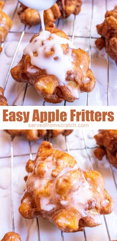 Make your own Easy Apple Fritters at home! They're so delicious and may be easier than you think! #applefritters #recipe #easy #fried #brunch Brunch Recipes, Cake Recipes, Breakfast Recipes, Sweet Breakfast, Breakfast Club, Apple Recipes, Dinner Recipes, Fun Desserts, Delicious Desserts