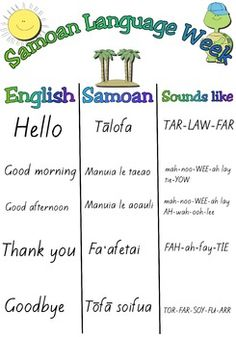 Samoan language week - FREE A3 poster.