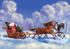 Do You Know the Difference Between Ded Moroz and Santa Claus? Russian Ded Moroz and Snegurochka, grandfather frost, christmas in Russia, russia at Christmas Noel Christmas, Father Christmas, Christmas And New Year, Christmas Gifts, New Year Greeting Cards, New Year Greetings, Another Day In Paradise, Horse Gifts, Cross Paintings