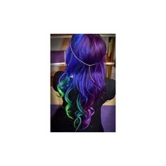 Galaxy hair is the latest Instagram trend that has us double-tapping... ❤ liked on Polyvore featuring accessories and hair accessories