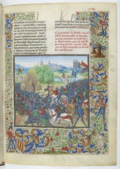 La bataille de Roosebeke, Jean Froissart, Chroniques, Bruges, entre 1470 et 1475, Parchemin. © Bibliothèque nationale de France.