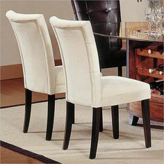best fabric to cover kitchen chairs chair covers in store 24 dining images room lunch covered parsons upholstered