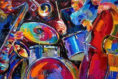 Debra Hurd Original Paintings AND Jazz Art: Jazz Art music painting abstract by Debra Hurd