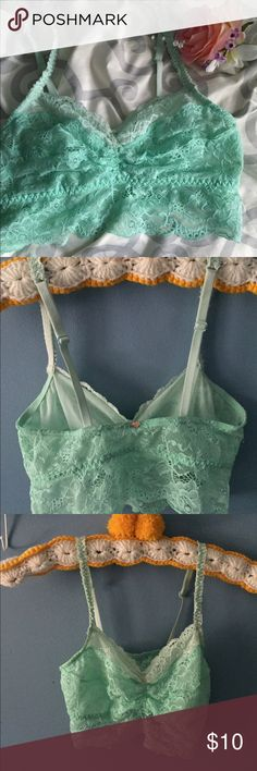 VS Pink Bralette Cute mint bralette, re-poshing because it didn't fit 😭! In great, like-new condition! PINK Victoria's Secret Intimates & Sleepwear Bras
