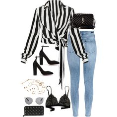 H&M, Aquazzura, Yves Saint Laurent, Madewell, Christian Dior and Valentino Fashion Mode, Look Fashion, Teen Fashion, Fashion Outfits, Paris Fashion, Classy Outfits, Stylish Outfits, Polyvore Outfits Casual, Polyvore Fashion