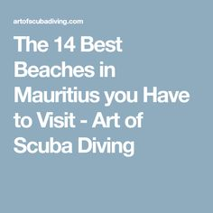 The 14 Best Beaches in Mauritius you Have to Visit - Art of Scuba Diving