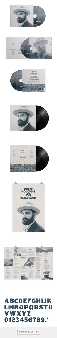 Drew Holcomb Album - Packaging of the World - Creative Package Design Gallery - http://www.packagingoftheworld.com/2016/07/drew-holcomb-album.html
