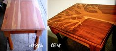 Create a treasure with stain and a recycled table