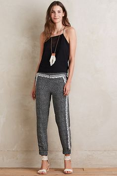 Naples Joggers #anthropologie. So cute! I don't know if this will be flattering on me or not... Would need to try on