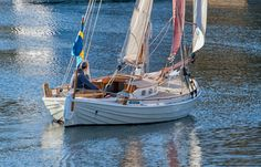 A Swedish double-ended gaff-rigged cutter originally built ca. 1875 sailing in Camden Maine.