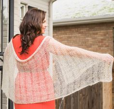 Gossamer Rhapsody Light Shawl by Iris Schreier Knit Kit - None