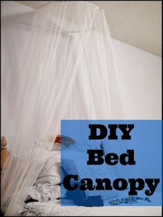 Learn how to jazz up your bedroom with this super easy do it yourself bed canopy tutorial.