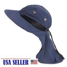 13593305 www.pinterest.com/1895gunner/   Outdoor Fish Camping Hunting Boonie Snap  Hat Brim Cap Ear Neck Cover Sun Flap
