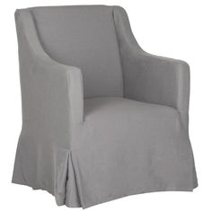 August Grove Skirted Slipcover Arm Chair