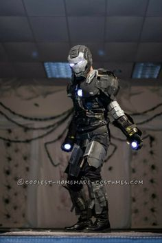 Awesome Iron Man War Machine Costume!… Coolest Halloween Costume Contest