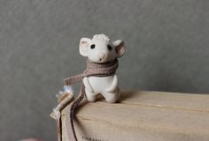 White mouse bookmark art handmade gifts for kids bookworm gift to children metal planner charms book lovers animal book...