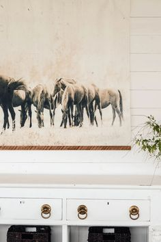 Grazing Horses Vintage Inspired Tapestry - Aimee Weaver Designs Barn Wood Signs, Reclaimed Barn Wood, Dining Room Inspiration, Empty Wall, Equestrian, Farmhouse Decor, Vintage Inspired, Moose Art, Tapestry