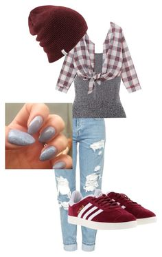 """""""for poop"""" by yoyoitzselena ❤ liked on Polyvore featuring Topshop, Christopher Kane, Chicnova Fashion and adidas"""