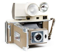 Polaroid Model Electric Eye 850 with Winklite (and early electronic flash, no bulbs), 1961–1963