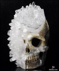 Carved crystal skull