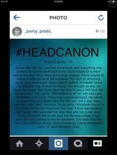 A percy Jackson headcanon by @_percy_posts_ on instagram