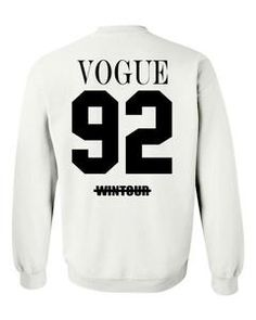 vogue 92 wintour sweatshirt back