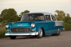 1955 Pro Street Chevy Hits the Swedish Drag Scene - Hot Rod Network 1956 Chevy Bel Air, 1955 Chevy, 1955 Chevrolet, Cool Old Cars, American Classic Cars, Hot Rides, Drag Cars, My Dream Car, Chevy Trucks