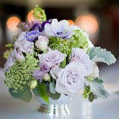 Garden Green and Violet Wedding Inspiration Board