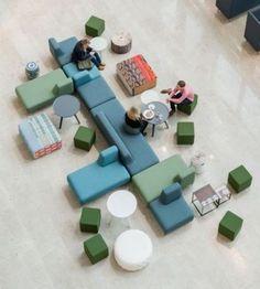 Interior Design Photos, Office Interior Design, Luxury Interior Design, Office Interiors, Modular Furniture, Furniture Layout, Furniture Design, Modular Sofa, Coin Banquette
