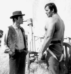 """Clint Walker, all 66"""" of him, and Burt Lancaster. Youre welcome."""