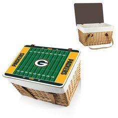 NFL Collectibles - Canasta Grande ( Green Bay Packers ) Digital Print - Natural  #greenbaypackers #uniquegifts #NFLgiftsformen