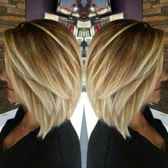 Inverted Blonde Fine Hair Bob Haircut