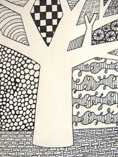 beginner zentangle pattern for kids - Google Search