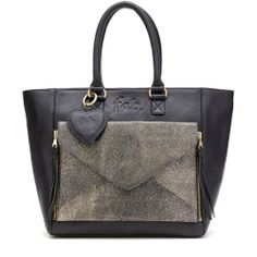 Fab. Two in One bag with metallic clutch