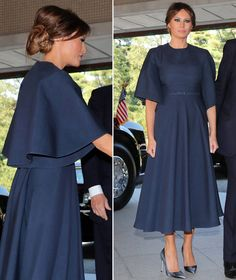 First Lady Melania Trump Trump Melania, First Lady Melania Trump, Ivanka Trump Outfits, Celebrity Pictures, Celebrity Style, Royal Fashion, Fashion Looks, Milania Trump Style, Mode Abaya
