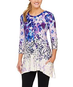 Another great find on #zulily! Purple Jungle Sidetail Tunic - Plus Too #zulilyfinds