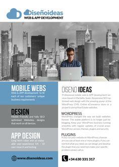 Mobile web and APP Development Marbella wordpress specialists