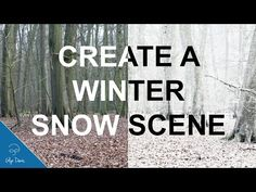 Create a Winter Snow Scene with Photoshop #65 - YouTube