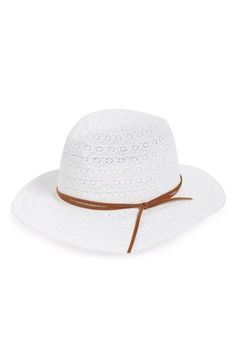 BP. Crochet Lace Panama Hat available at #Nordstrom